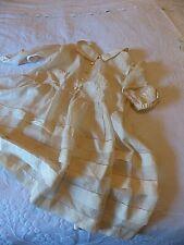 ANTIQUE SILK BABY'S DRESS -  FRENCH - TISSUE SILK