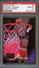 1993 Ultra Michael Jordan Inside Outside #4 PSA 10 GEM MINT. POP 29
