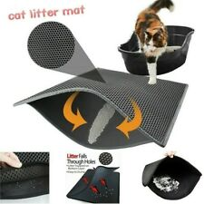 Double-Layer Cat Litter Box Mat Trapper Foldable Pads Pet Rug Foam Rubber Safety
