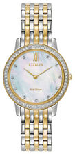 Citizen Eco-Drive Women's EX1484-65D Crystal Accents Two-Tone 29mm Watch