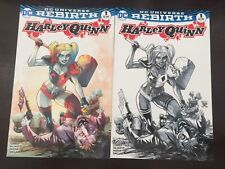 Harley Quinn #1 DC  Manapul Joker variant Color + B&W sketch variant NM Unread