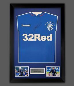 Steven Gerrard Rangers Fc Signed Football Shirt In A Framed Presentation