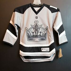 LA Los Angeles KINGS Official Licensed NHL Hockey Jersey Reebok Youth S/M NWT