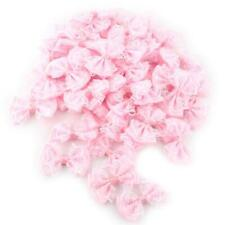 50pcs Set Satin Lace Mini Ribbon Bows Party Gift Crafts Wedding Pre-tied Bow