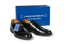 Men's Genuine Leather Ghillie Brogues Kilt Shoes with Synthetic Rubber Sole