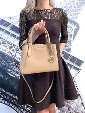 Michael Kors Kimberly Small Satchel Leather Bag Dark Khaki