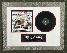 Iron Maiden Band Signed Autographed Album Custom Framed Be Quick or Be Dead JSA