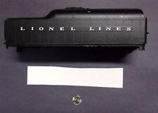 Lionel Post-war #2046 Lionel Lines (White) Tender Waterslide Decal