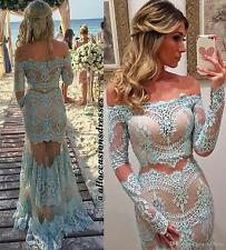 Arabic Trumpet Off Shoulder Prom Dress Custom Made Long Sleeves Party Gown