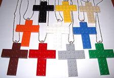 Necklace Custom LEGO  Religious Cross Pendant,  Party Favor, Game Prize U PICK #