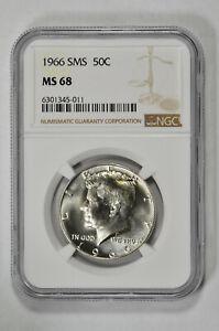 1966 SMS 50c Kennedy Half Dollar NGC MS 68