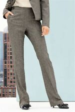 Next Mink Tailored Textured Boot Cut Trousers 6P