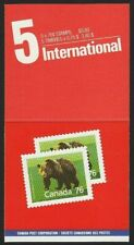 Canada — Booklet of 5 in Cover — Mammals: Grizzly Bear #1178b (Bk105b) — Mnh
