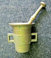 Vintage Solid Brass Small Apothecary Mortar & Pestle