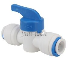 """5pcs 3/8"""" OD Tube Ball Valve Quick Connect Equal Straight Fitting for RO Water"""
