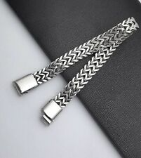 Men's Stylish Stainless Steel Silverly Foxtail Chain Bracelet