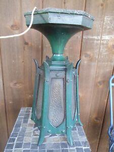 Antique Heavy Duty Cast Iron Victorian Gothic Ceiling Porch/Foyer Light