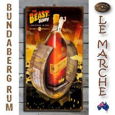 "Bundy BUNDABERG RUM ""Beast of Bundy"" Wooden Rustic Plaque / Sign (FREE POST) 🥃"