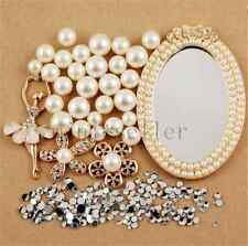 deco den kit  diy cellphone case mirror girl flower crystal rhinestone flatback
