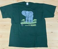 Vintage Wildlife Conservation Society T Shirt XL Elephant