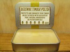 Handcrafted Beeswax Timber Polish - 80g Tin