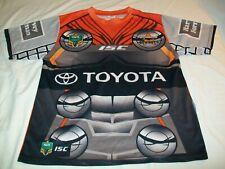 NWT North Queensland Cowboys ISC NRL Short Sleeve Marvel Rugby Jersey - Men LRG