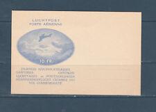 frb/ carte poste aérienne avion  journées philatéliques Gantoises  1913  neuve