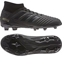 ADIDAS PREDATOR 19.3 FG YOUTH SOCCER CLEATS SHOES BLACK G25794 NEW SIZE 4.5