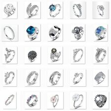 Stainless Steel Engagement Gem Ring Titanium Silver Wedding Rings Women US