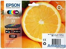 Genuine Epson 33 Orange Ink Cartridges For Expression XP-530, XP-630, XP-635 830