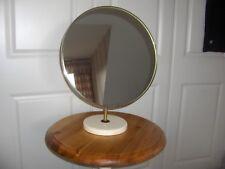 GRANDE Retrò anni 1960 metà del secolo ROUND vanità specchio per tavolo da toeletta Tilt MFI