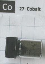 3 gram 99,9% Cobalt metal powder in glass vial element 27 sample