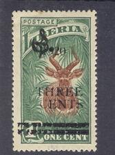 "Liberia 1920, 3c on 1c antelope official, ITALIC ""9"" in ""1920""  #O111 animal"