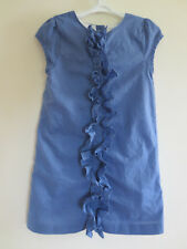 Olive Juice Dress Boutique Cobalt Blue Girls Size 5 Ruffle Accent VGUC
