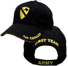 1st Cavalry Insignia Hat / U.S. Army Black Baseball Cap