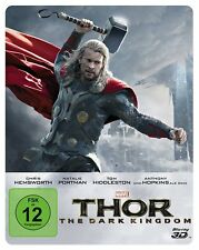 THOR - THE DARK KINGDOM - 3D & 2D Steelbook Blu-ray - Region ALL ( A,B,C ) - NEW