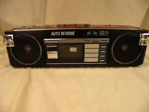 Panasonic Model FM 27 Auto Reverse Cassette Boom Box w/Radio