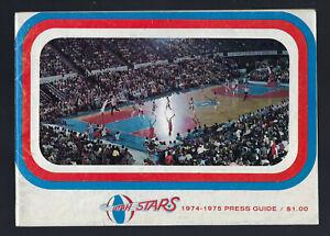 VINTAGE 1974-75 ABA UTAH STARS MEDIA PRESS GUIDE YEARBOOK - W. WISE MOSES MALONE