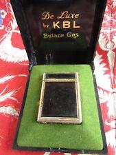 ancien briquet KBL ecrin laqué noir lighter 5.7cm