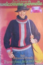 REVUE MAGAZINE TRICOT LOISIR CREATIF CAHIERS WELCOMME PERNELLE N°15 TRICOTS FOUS