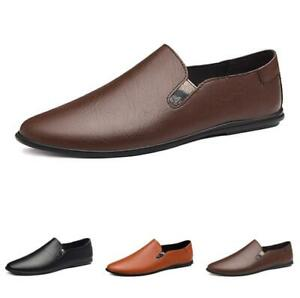 38-45 Mens Driving Moccasins Shoes Pumps Slip on Loafers Flats Breathable Soft L