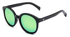 Mohawk Ladies Designer Sunglasses Oversize Black & Green Mirror UV400 Y106