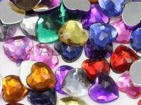 6mm Assorted Colors Flat Back Heart Acrylic Rhinestones Gems Crafts 300 Pieces