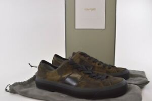 Tom Ford NWB Sneakers Size 9.5 D In Military Camo Green & Black $990