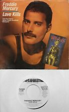 FREDDIE MERCURY  Love Kills  rare promo 45 with PicSleeve from 1984  QUEEN