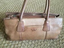Genuine Osprey Tan Leather Handbag Shoulder Bag