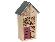 Hotel à insectes toit métallique boite maison 25,3 x 15,2 cm REF BB50502