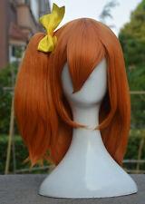 Lovelive! Love Live! Honoka Kousaka Wig Ponytail Cosplay Wig +Yellow Bow Hairpin