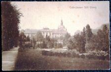 """Postkarte """"Cisterzienser Stift Ossegg"""", Stiftsgarten gel.1922"""