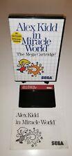 SEGA Master System Spiel ALEX KIDD IN MIRACLE WORLD RetroGame CIB 1st Edition